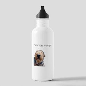Airedale Terrier Friends Water Bottle