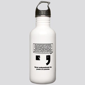 The Power of Commas Stainless Water Bottle 1.0L