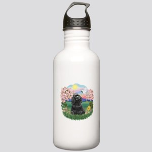 Blossoms-Black Cocker Stainless Water Bottle 1.0L