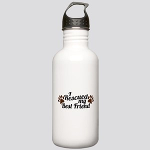 Rescued Dog Best Friend Stainless Water Bottle 1.0