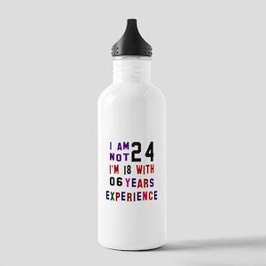 24 Birthday Designs Stainless Water Bottle 1.0L