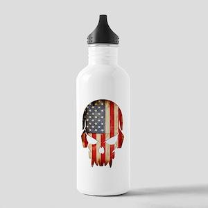 American Flag Skull Stainless Water Bottle 1.0L