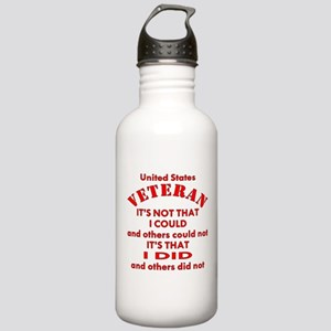 US Vet I Did Because Stainless Water Bottle 1.0L