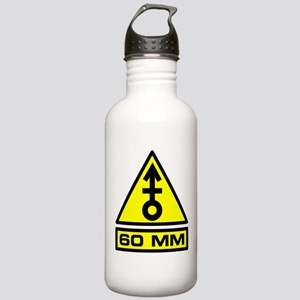 60mm Mortar Warning Stainless Water Bottle 1.0L