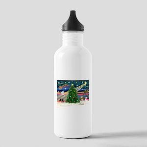 XmasMagic/Shih Tzu pup Stainless Water Bottle 1.0L