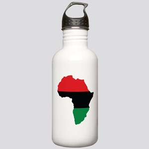 Red, Black and Green Africa Flag Sports Water Bott