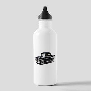 BabyAmericanMuscleCar_57BelR_Black Water Bottle