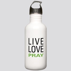 Live Love Pray Stainless Water Bottle 1.0L