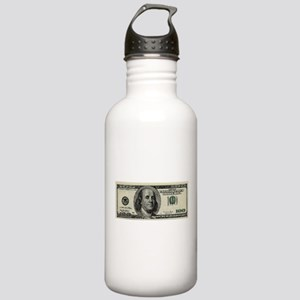 100 Dollar Bill Stainless Water Bottle 1.0L