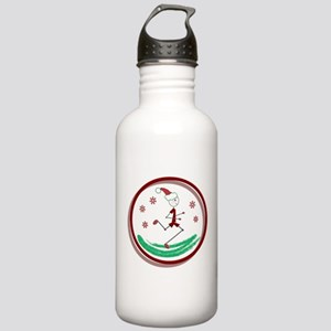 Holiday Runner Guy Stainless Water Bottle 1.0L
