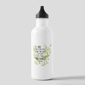 Be the Change - Green - Light Stainless Water Bott
