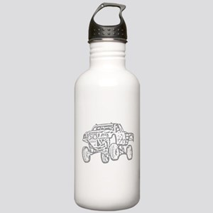 Off-Road Race Truck Grey Stainless Water Bottle 1.