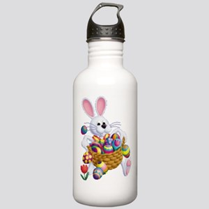 Easter Bunny with Basket of Eggs Water Bottle