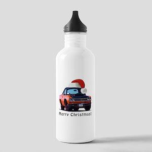BabyAmericanMuscleCar_69_RoadR_Orange Water Bottle