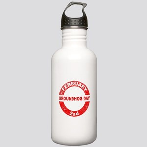 Groundhog Day Stamp Stainless Water Bottle 1.0L