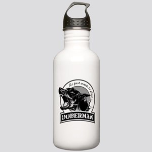Doberman white Stainless Water Bottle 1.0L