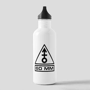 60mm Warning (B) Stainless Water Bottle 1.0L