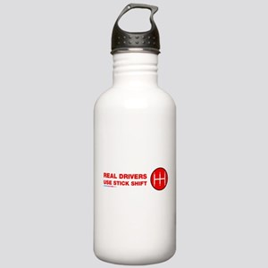 Real Drives Use Stick Shift Water Bottle
