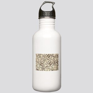 Dollar Bills Water Bottle
