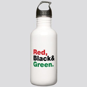 Red, Black and Green. Stainless Water Bottle 1.0L