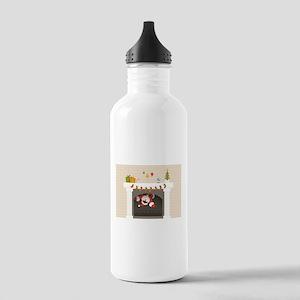 black santa stuck in f Stainless Water Bottle 1.0L