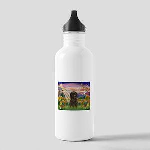 Autumn Angel & Affenpinscher Stainless Water Bottl