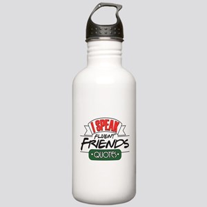 I Speak Friends Quotes Stainless Water Bottle 1.0L