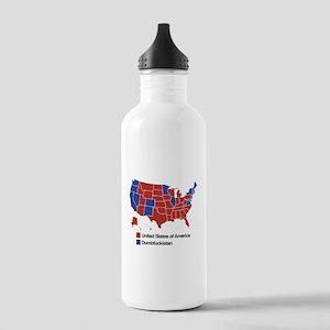 Map of Dumbfuckistan Water Bottle