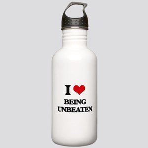 I love Being Unbeaten Stainless Water Bottle 1.0L