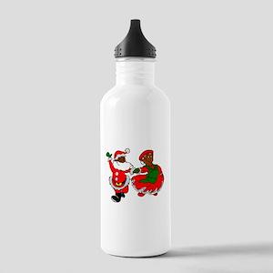 black santa mrs claus Stainless Water Bottle 1.0L