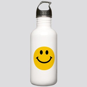 Yellow Smiley Face Stainless Water Bottle 1.0L