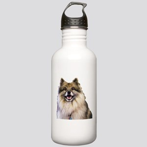 Keeshond Head Shot Water Bottle