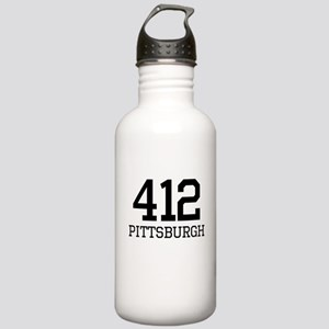 Pittsburgh Area Code 412 Sports Water Bottle
