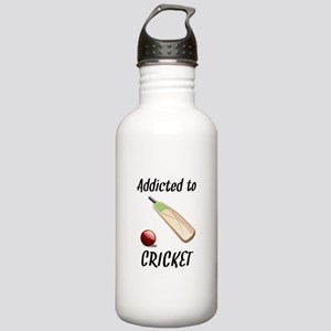 Addicted To Cricket Water Bottle