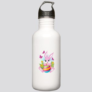 Pink Easter Bunny Stainless Water Bottle 1.0L