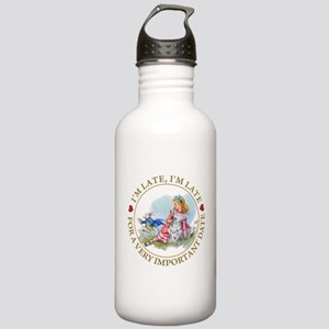 I'm Late , I'm Late, F Stainless Water Bottle 1.0L