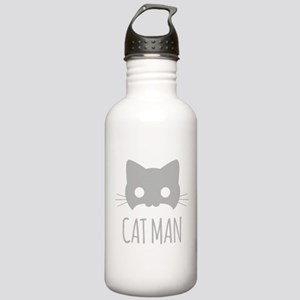 Cat Man Water Bottle