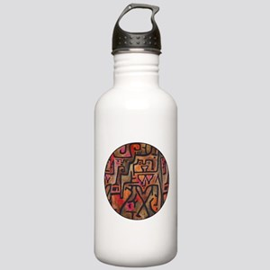 Paul Klee Red Nature Abstract Forest Water Bottle