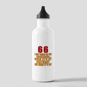 66 Birthday Designs Stainless Water Bottle 1.0L
