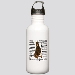 Doberman Traits Water Bottle