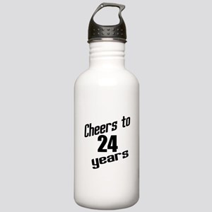 Cheers To 24 Years Bir Stainless Water Bottle 1.0L