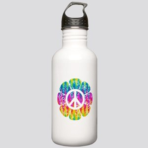 Colorful Peace Flower Stainless Water Bottle 1.0L