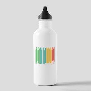 Retro Abu Dhabi Skyline Water Bottle