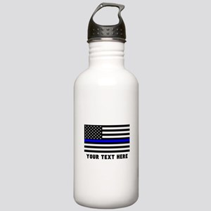 Thin Blue Line Flag Stainless Water Bottle 1.0L