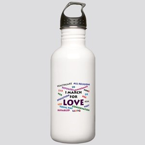 I March for Love Water Bottle
