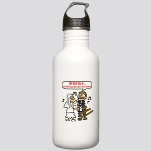 50th Wedding Anniversary Stainless Water Bottle 1.