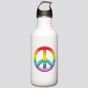 Rainbow Peace Sign Stainless Water Bottle 1.0L