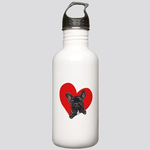 French Bulldog Love Stainless Water Bottle 1.0L