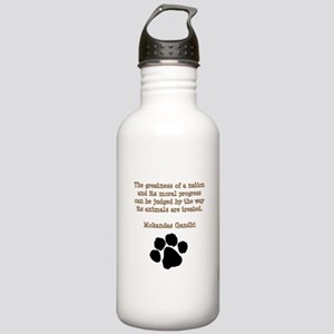 Gandhi Animal Quote Stainless Water Bottle 1.0L