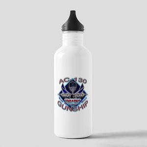 USAF AC-130 Gunship Skull Stainless Water Bottle 1